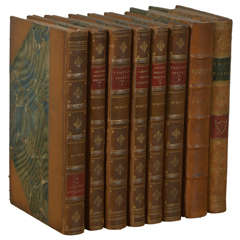 """""""The Works of Laurence Sterne"""" Set of 6 Antique Leather Bound Books"""