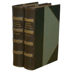 """""""Percy Bysshe Shelley,"""" by Forman - I & II, Set of 2 Antique Books"""