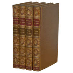 """""""Cruikshank at Home,"""" 1st, 2nd, 3rd & 4th Series, Set of 4 Antique Books"""