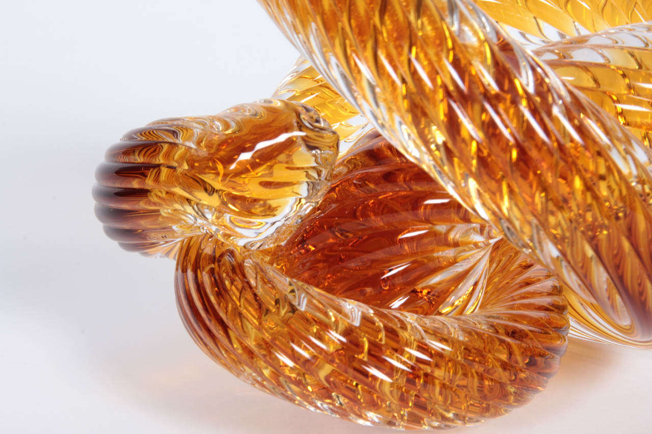Murano Crystal Coil Sculpture In Excellent Condition For Sale In New York, NY