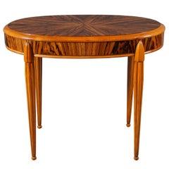 Oval Macassar Wood Table