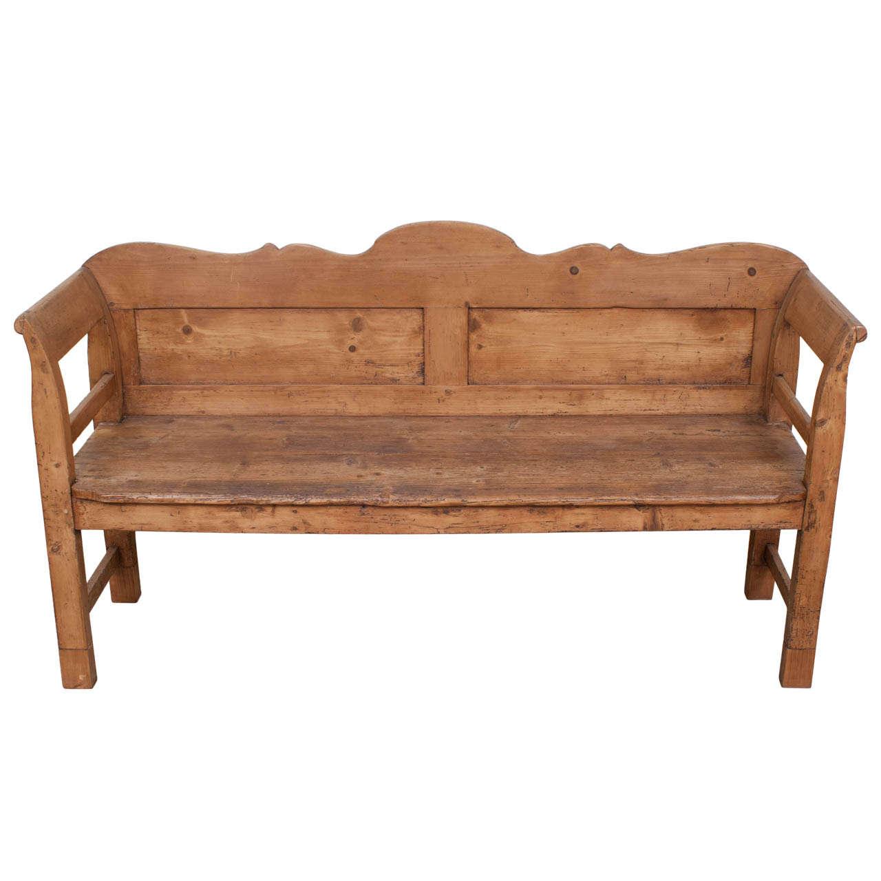 pine bench at 1stdibs