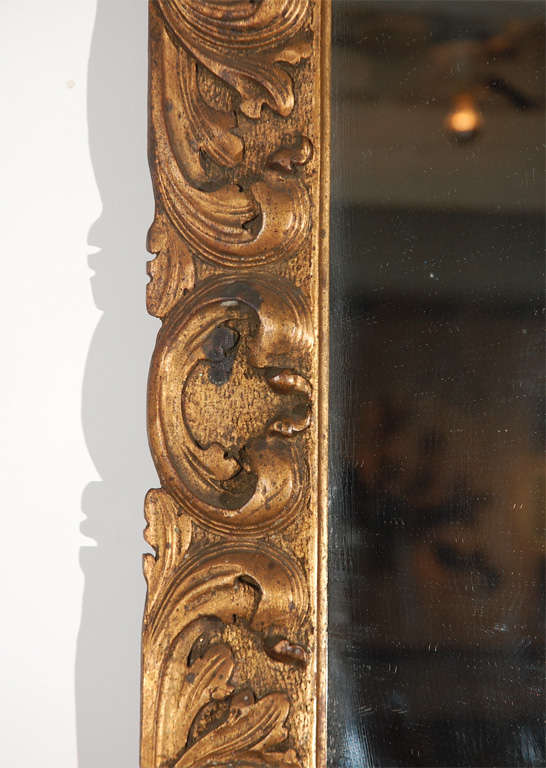 20th Century Detailed Wood Mirror For Sale