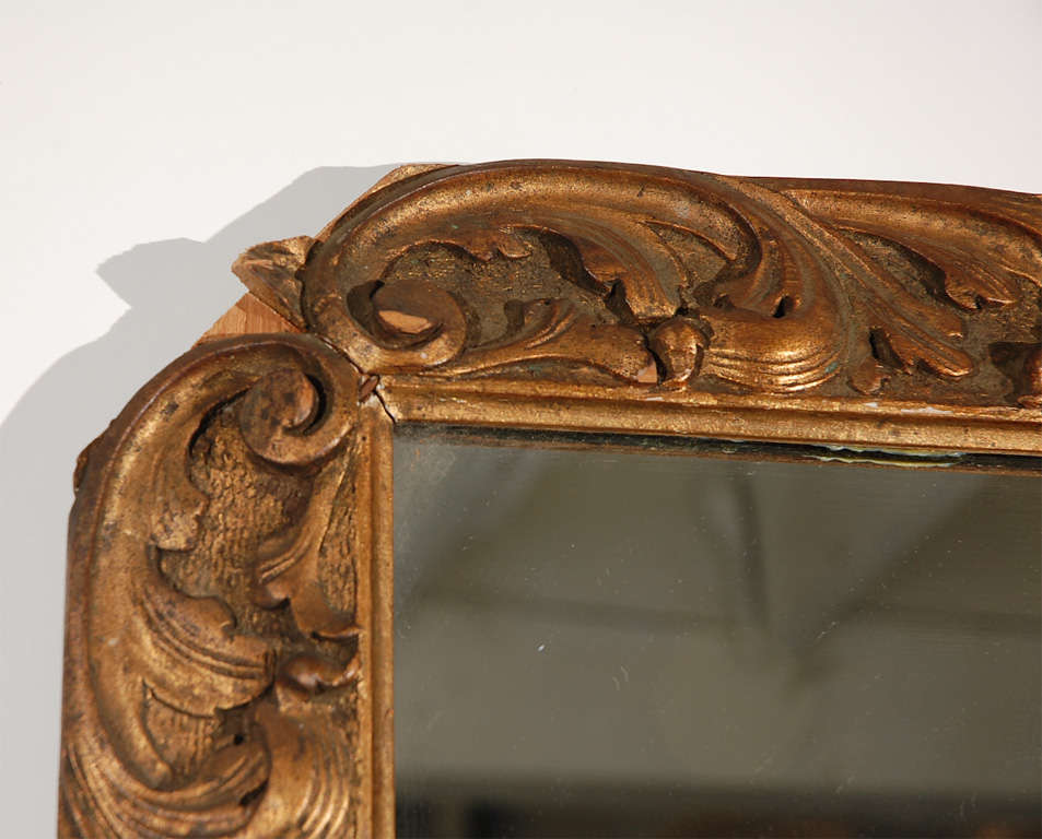 Detailed Wood Mirror For Sale 2