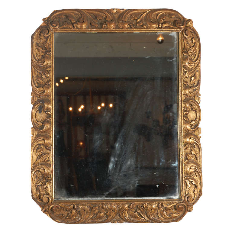 Detailed Wood Mirror