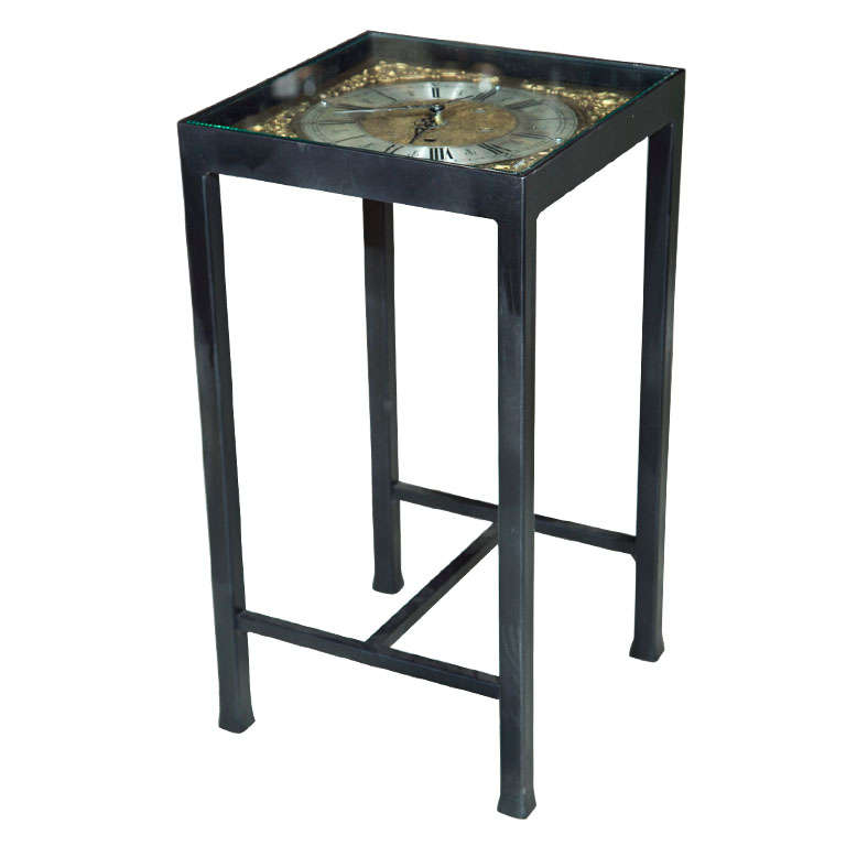 Brass And Silver Face Clock Table Price Reduction From