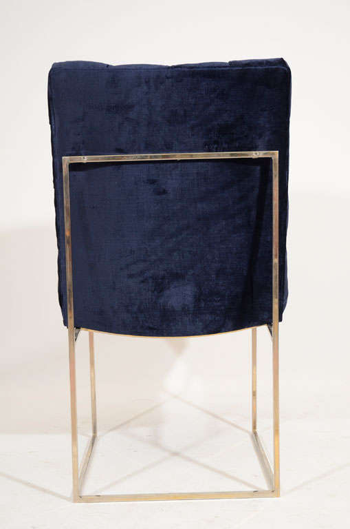 Set of 6 Milo Baughman Tufted Velvet Dining Chairs image 6