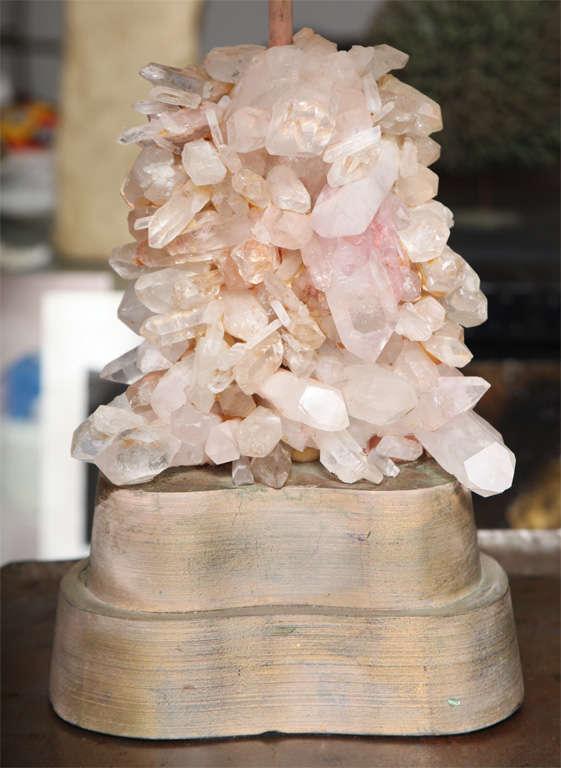 American Pair of Carol Stupell Rock Crystal Lamps