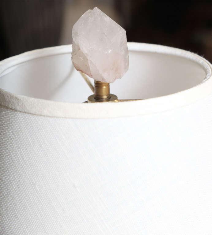 Wood Pair of Carol Stupell Rock Crystal Lamps