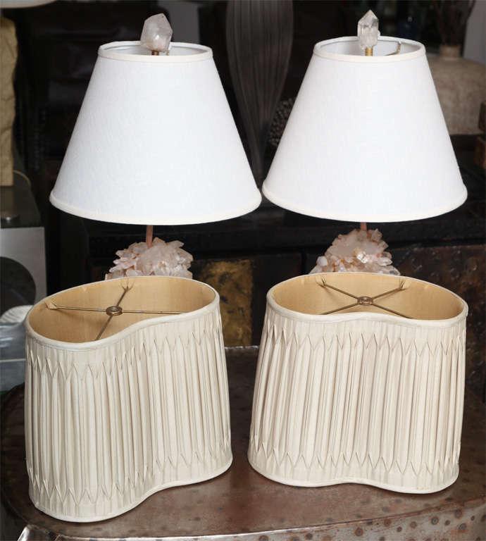 Pair of Carol Stupell Rock Crystal Lamps 4