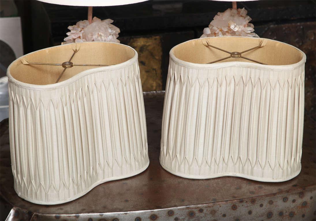 Pair of Carol Stupell Rock Crystal Lamps 5