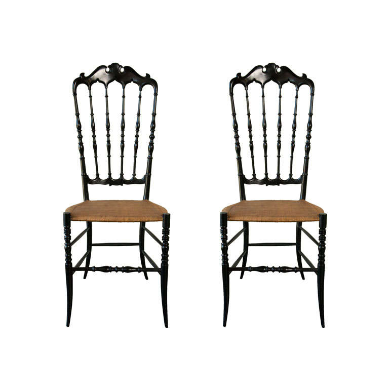 Pair Chiavari Chairs at 1stdibs