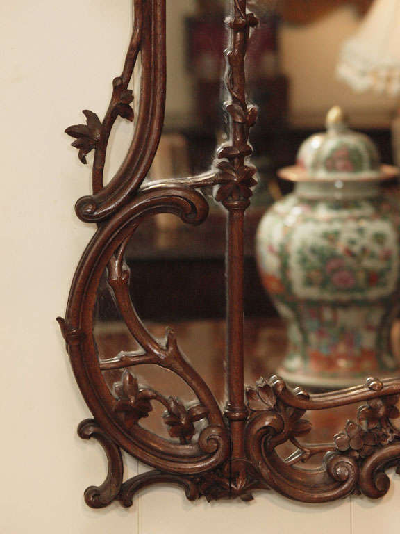 Antique Chinese Chippendale Carved Wood Mirror At 1stdibs