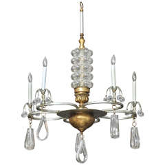 Oona Chandelier with Bubble Glass and Lucite