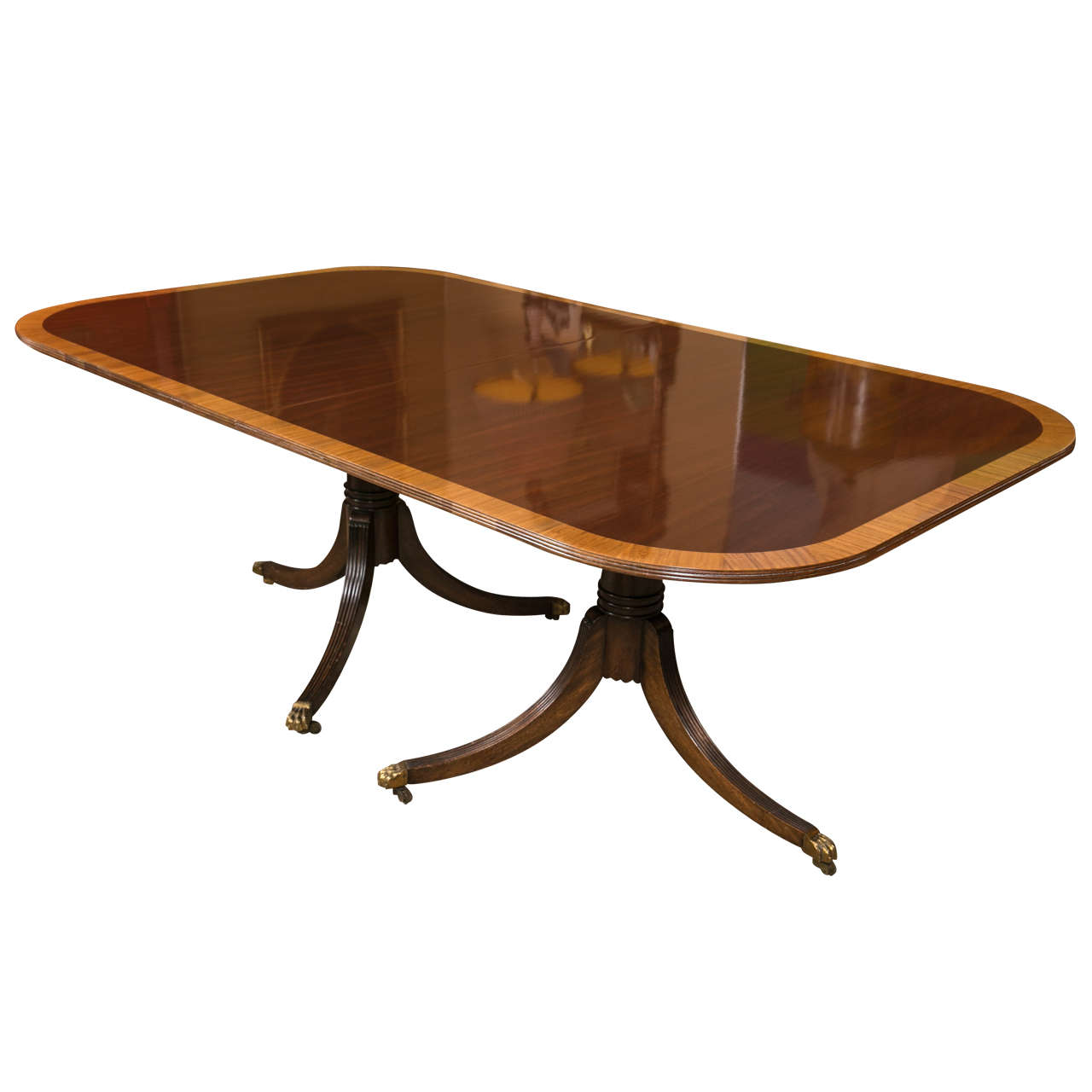 Michael taylor cyprus tree trunk dining table at 1stdibs - Fine Georgian Style Banding Dining Table Possibly Baker 1