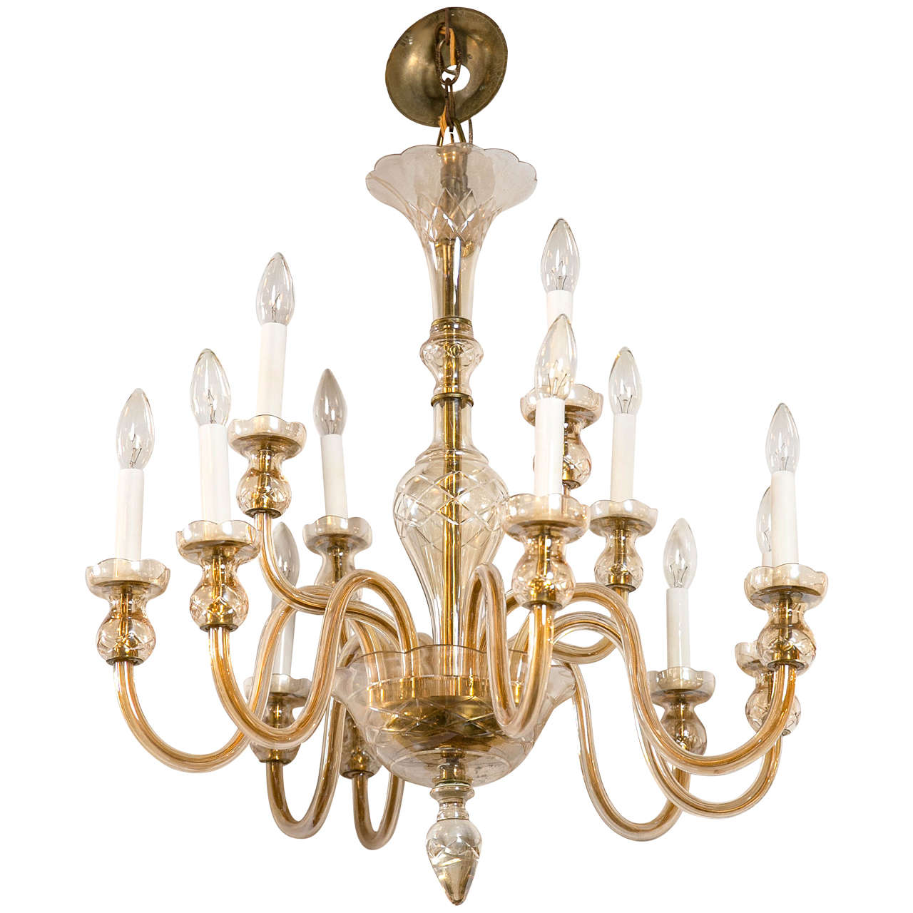 mid century modern murano glass chandelier at 1stdibs. Black Bedroom Furniture Sets. Home Design Ideas