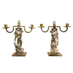 Pair of Candlesticks by André Deluol