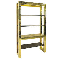 Paul Evans Brass Étagère Bookcase