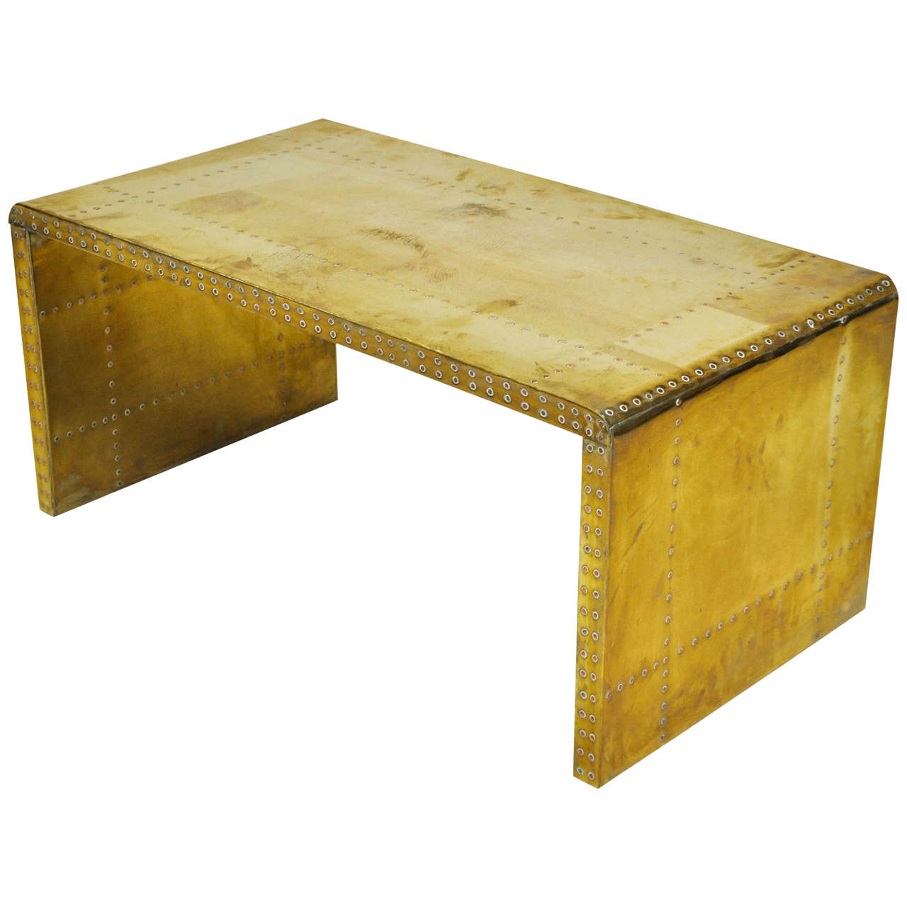 Small Modern Coffee Table 1960s For Sale At 1stdibs: Sarreid Brass-Clad Coffee Table For Sale At 1stdibs