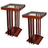 Pair of American Art Deco Lamp Tables