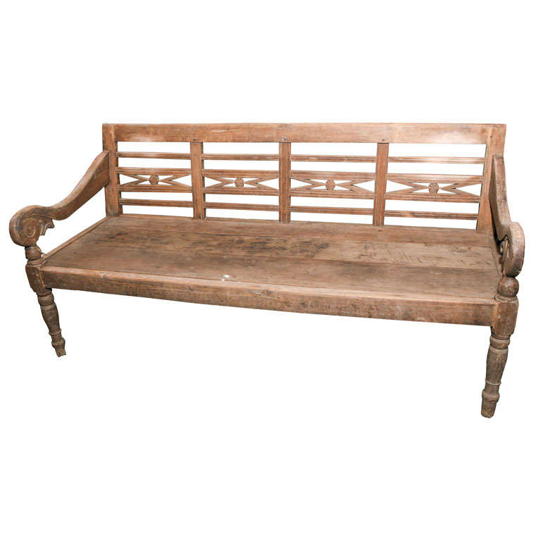 Vintage Teak Wood Bench For Sale Antique Wooden Bench I64
