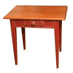 Small Canadian table with red base