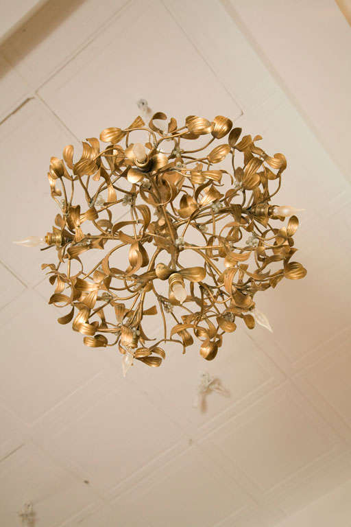 Metal Branch And Leaf Chandelier At 1stdibs