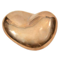 Chuck Price gold heart sculpture