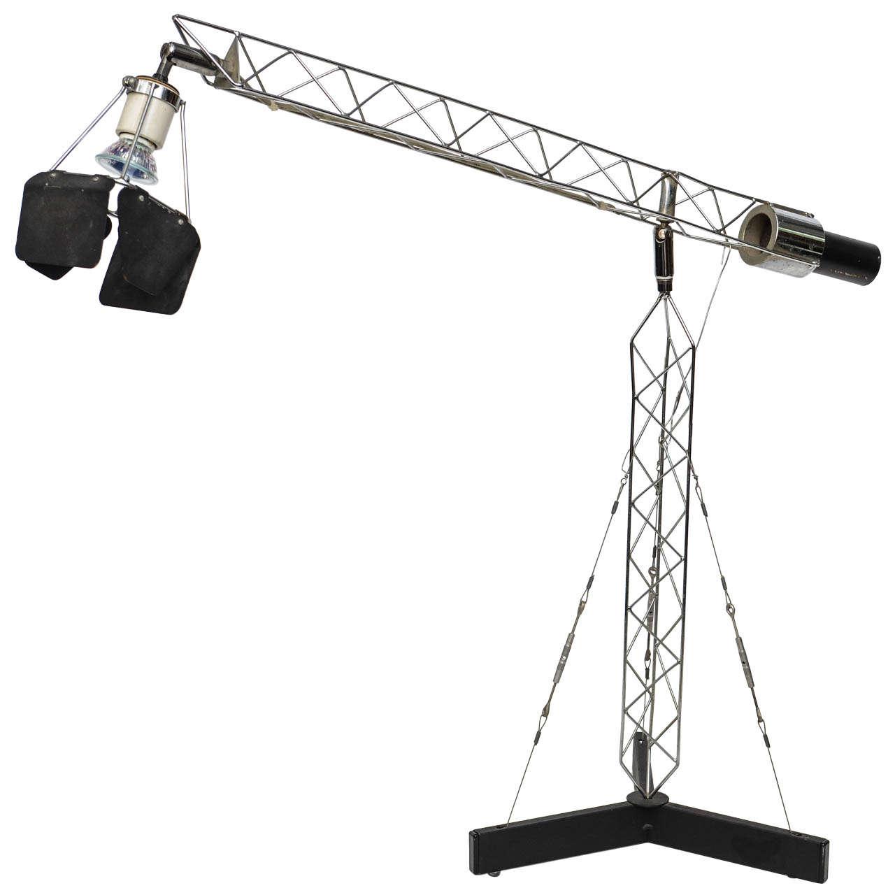 C Jere Vintage Articulating Crane Table Lamp At 1stdibs
