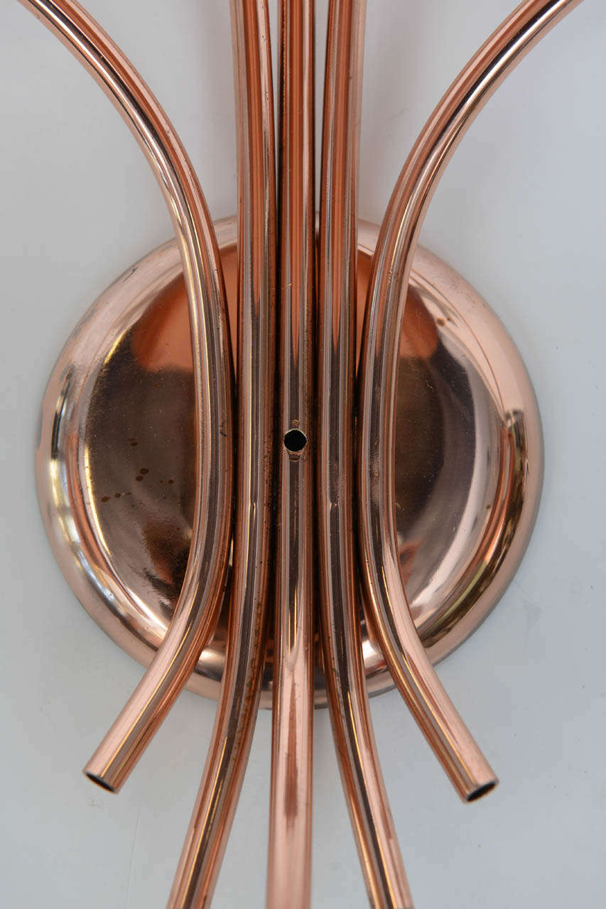 Wall Sconces Copper : Polished Copper Wall Sconce For Sale at 1stdibs