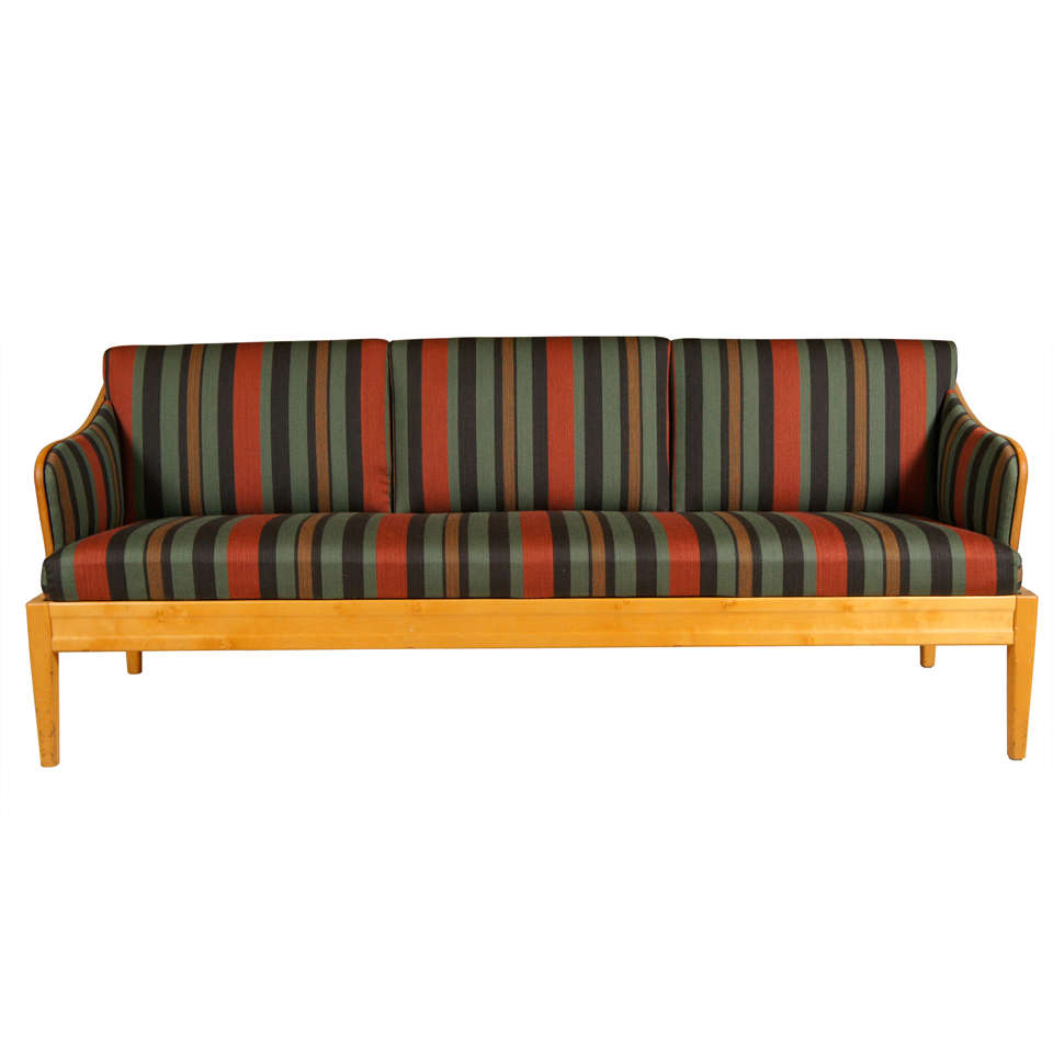1940s Birchwood Sofa Bench/Settee by Carl Malmsten