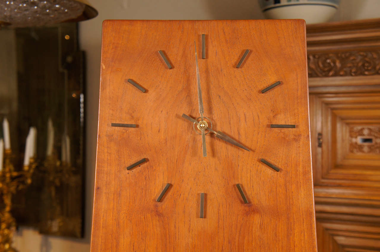 Mid-20th Century Danish Modern Teakwood Grandfather Clock