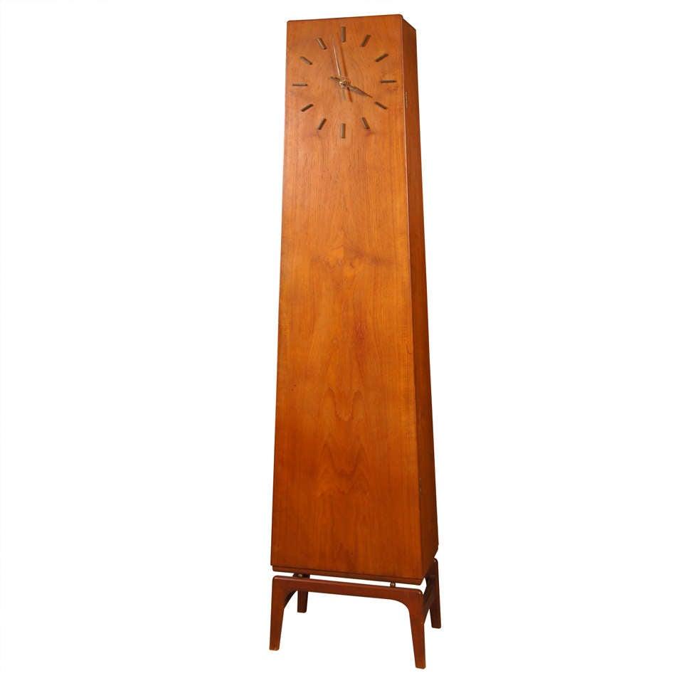 Danish Modern Teakwood Grandfather Clock