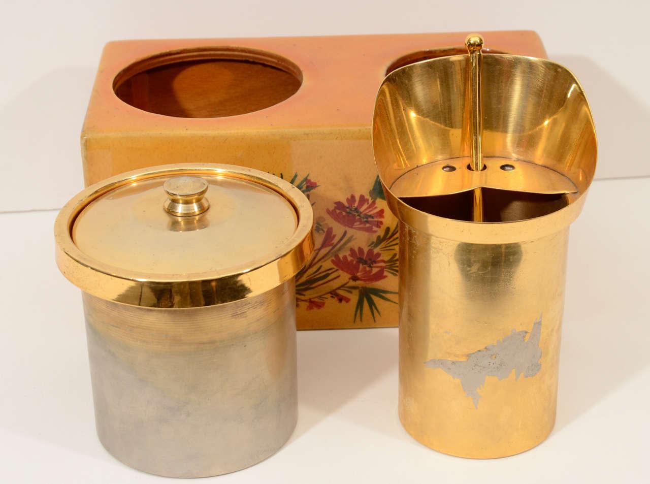 1950s Aldo Tura Ice Bucket For Sale 1