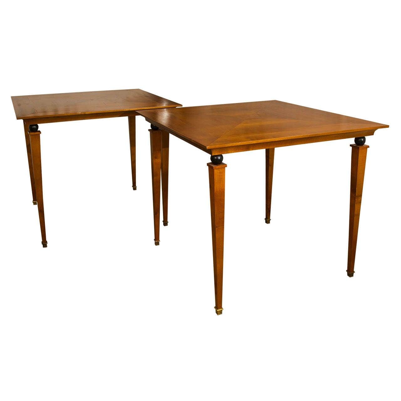 Pair of Beechwood Tables