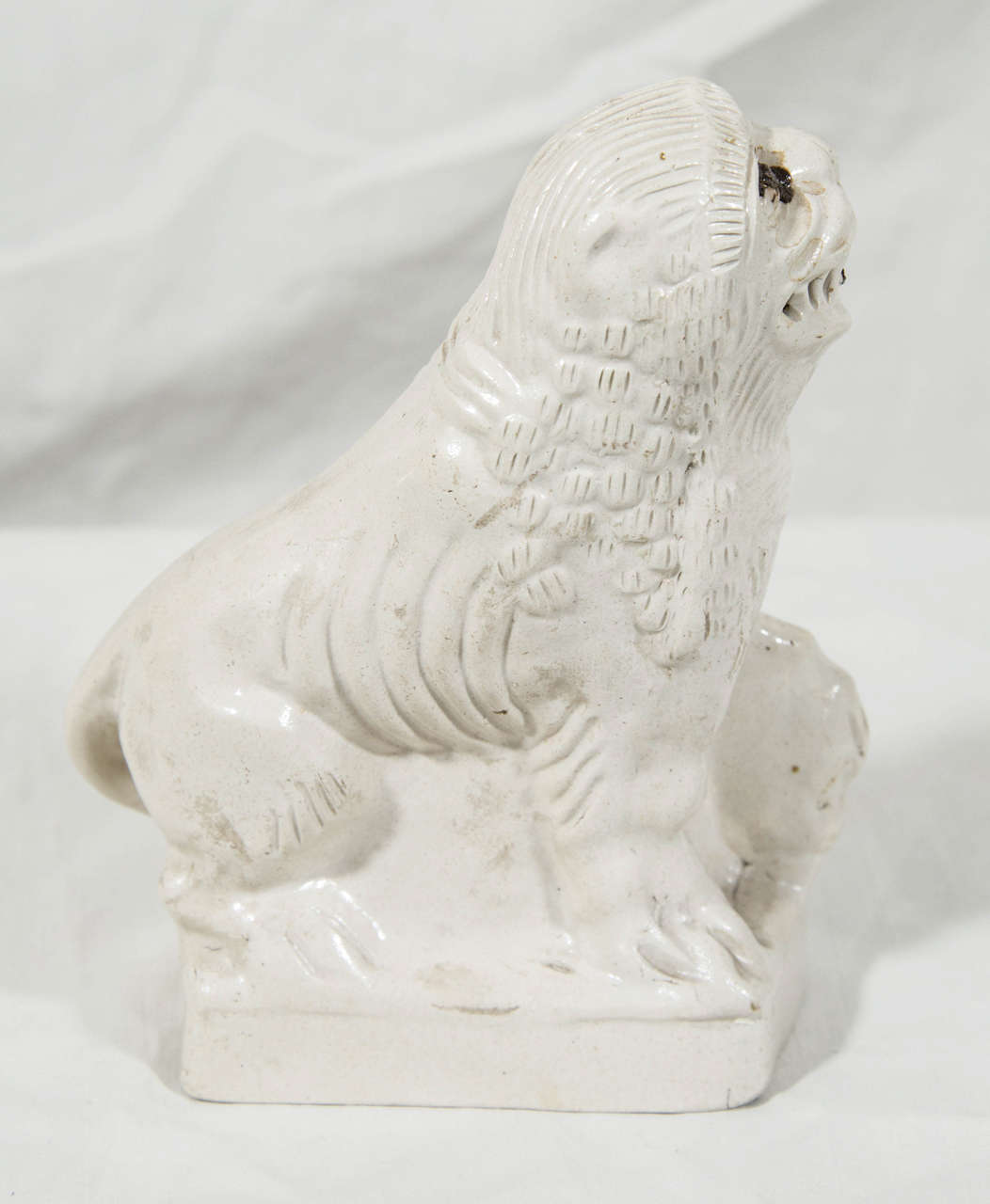 Stoneware English Salt Glazed Pottery  Lion Mid-18th Century Made circa 1760 For Sale