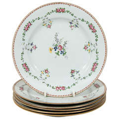 Set of a Dozen Chinese Famille Rose Porcelain Dinner Dishes