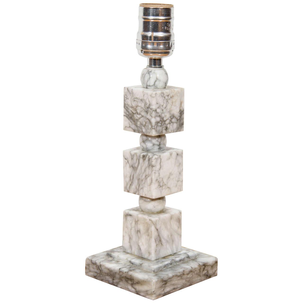 Art Deco Marble Table Lamp