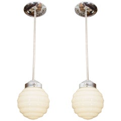 Ivory Mid-Century Modern Light Fixtures