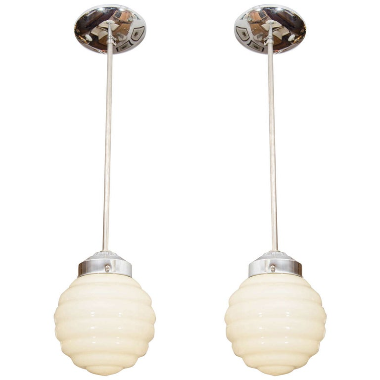 Ivory Mid-Century Modern Light Fixtures For Sale