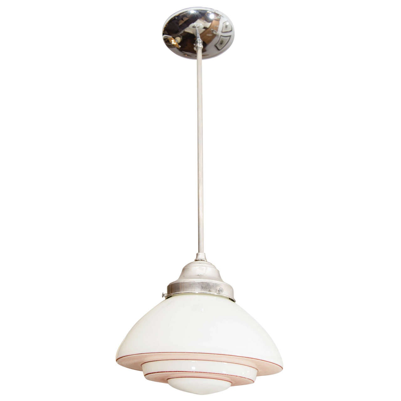 Pink and White Mid-Century Modern Light Fixture