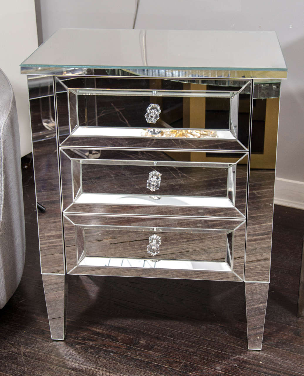 clear nightstand compare prices on clear nightstand online  - beautiful custom mirrored nightstand for sale at stdibs