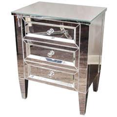 Beautiful Custom Mirrored Nightstand