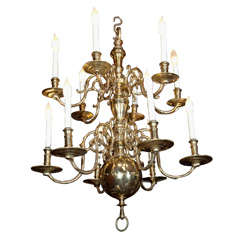 2  Tier, 10 Light Dutch Colonial  Chandelier