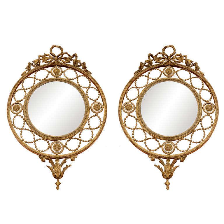 Pair of Gilt Openwork Mirrors