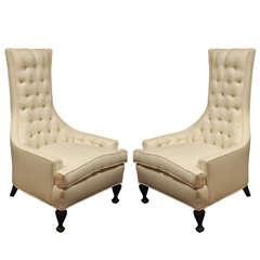 Pair Of Hollywood Regency Armchairs.
