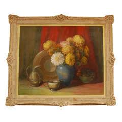 """Horace Edmund Huey """"Bouquet De Fleurs"""" Painting"""