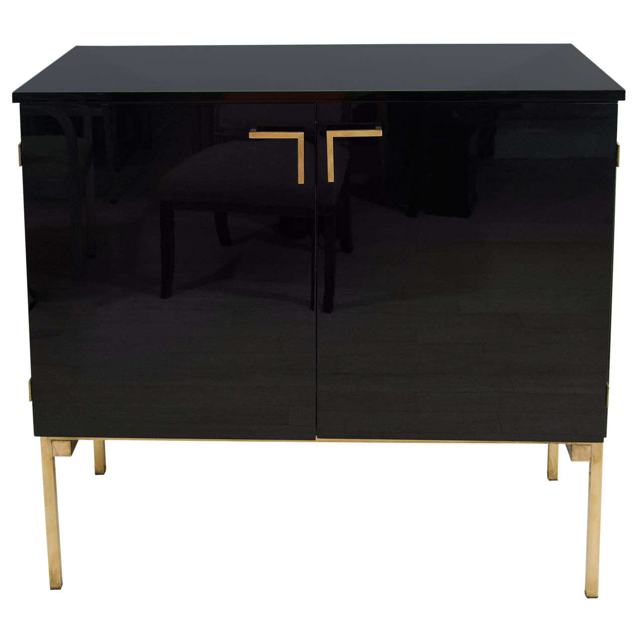 french black lacquer and brass cabinet at 1stdibs