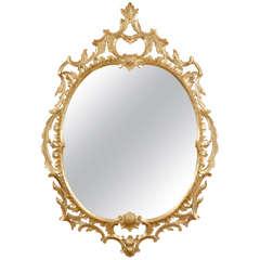 George II Oval Giltwood Mirror