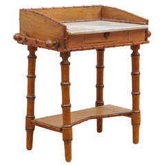 "Diminutive French ""Faux Bamboo"" Washstand"